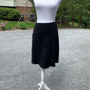 Wool A Line Skirt Black Teri Jon